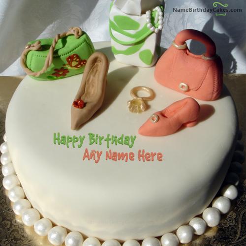 Birthday Cake For Fashion Designer With Name Beautiful Birthday Cakes Birthday Cakes For Teens Cake