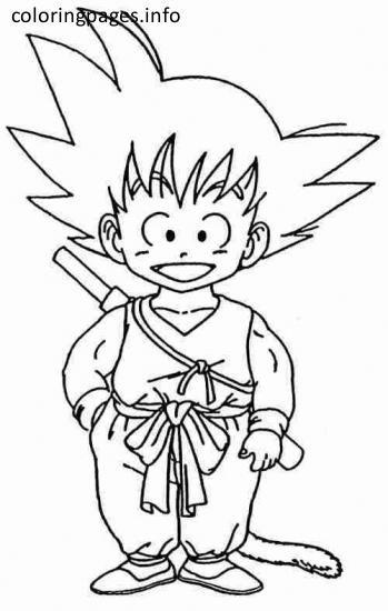 Kid Goku Coloring Pages Paginas Para Colorir Imagens Para Colorir Goku Desenho