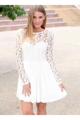 White Promotion Dresses
