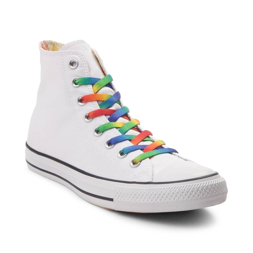Rainbow Custom Converse High Top White