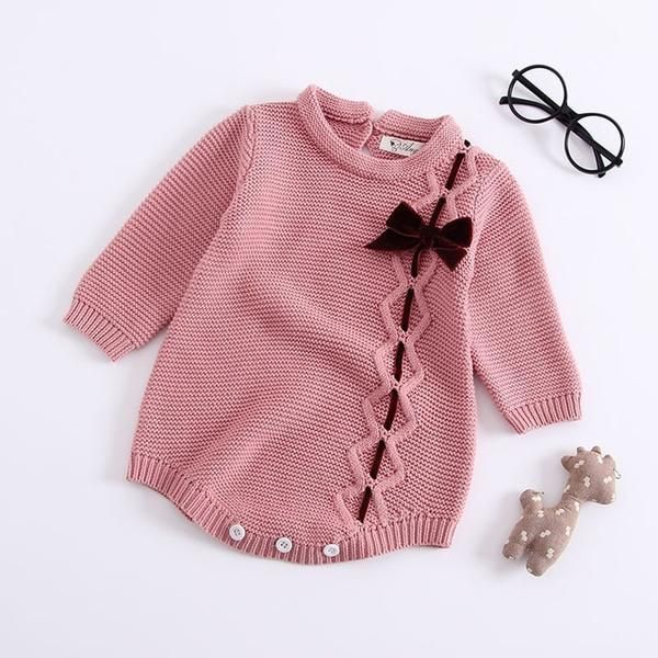 Photo of Sodawn 2019 New Spring Autumn Fashion Baby Girls Clothes Long Sleeve Knit Sweater+Shorts Sets of Children Baby Clohting Knit Set