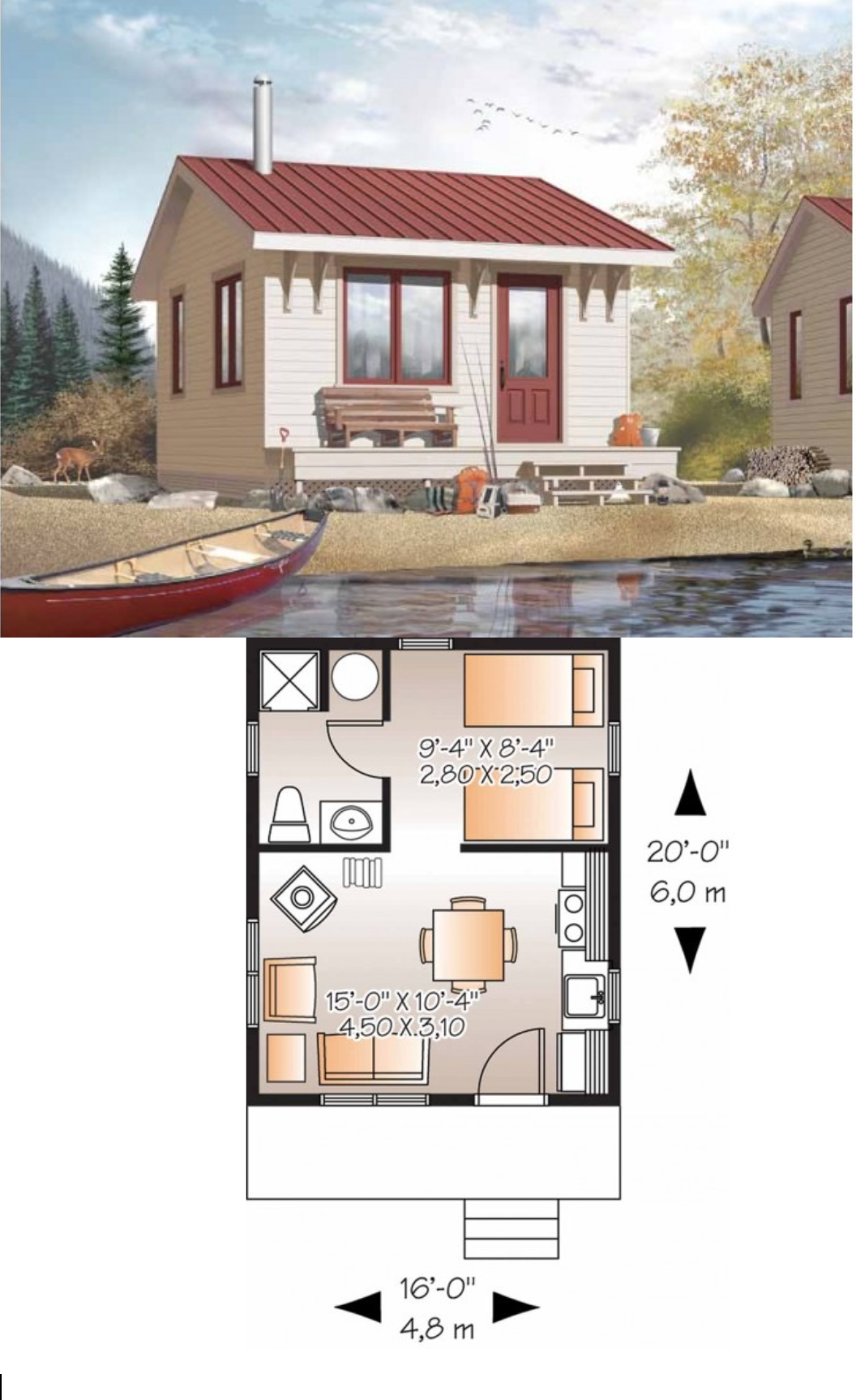 16 x 20 cottage