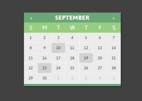 jQuery Calendar Plugin Using HTML Templates - CLNDRjs jQuery