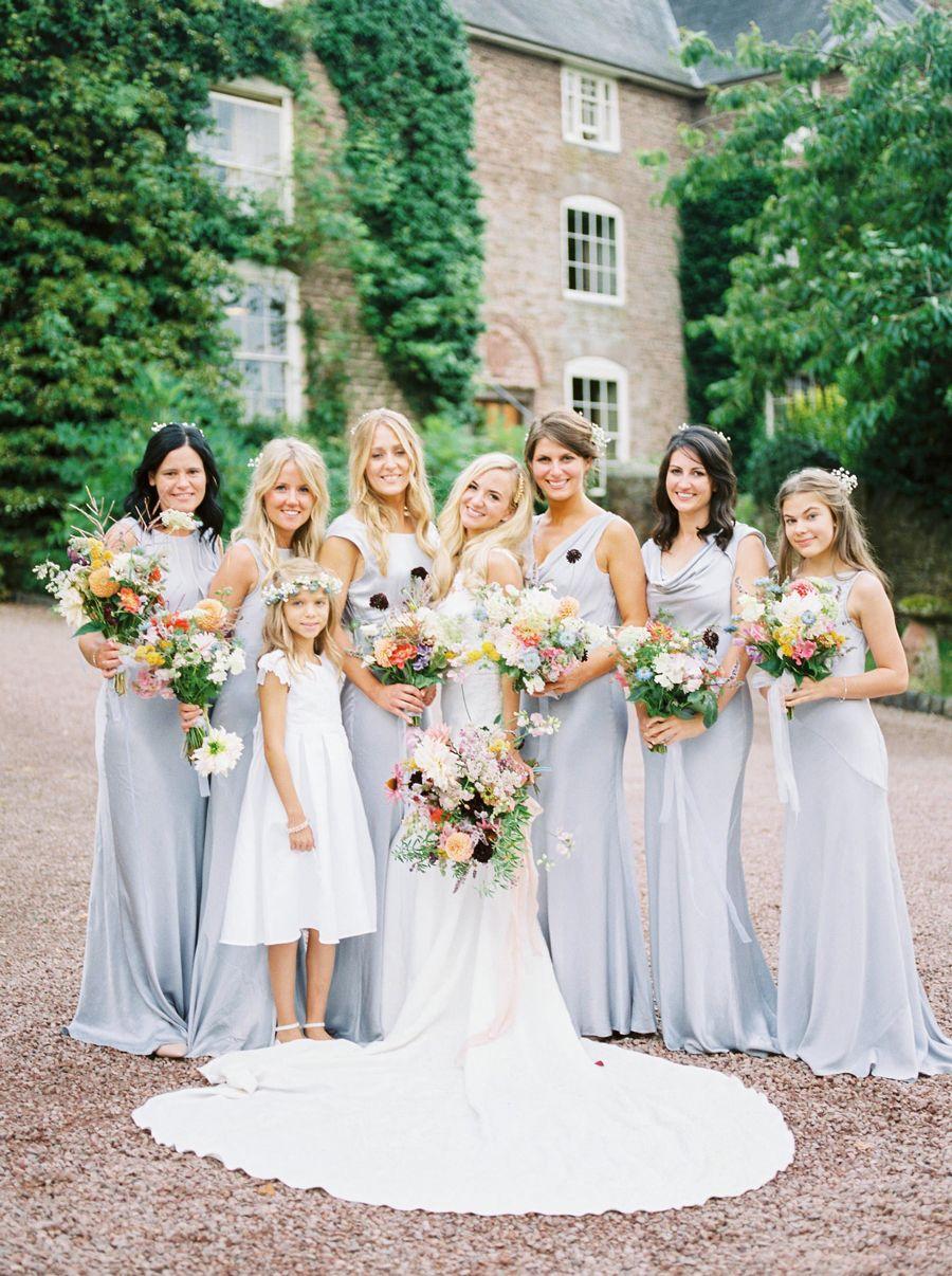 a206aa846a Pale Blue Grey Bridesmaid Dresses