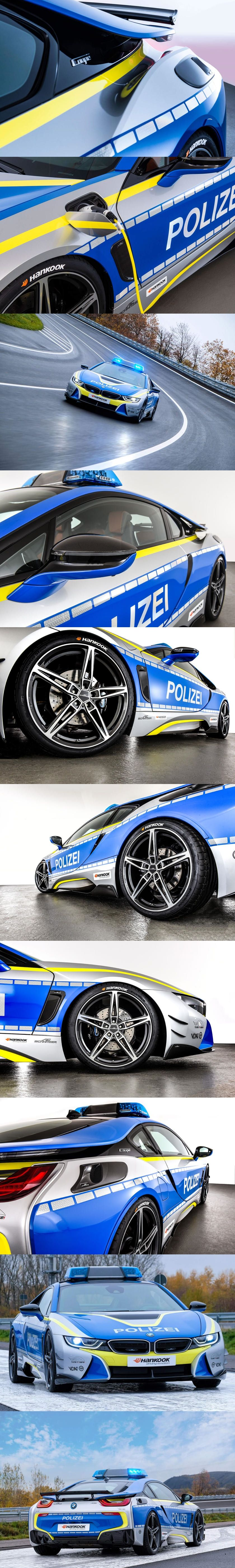 We Would Happily Pull Over For This Bmw I8 Police Car Ac Schnitzer