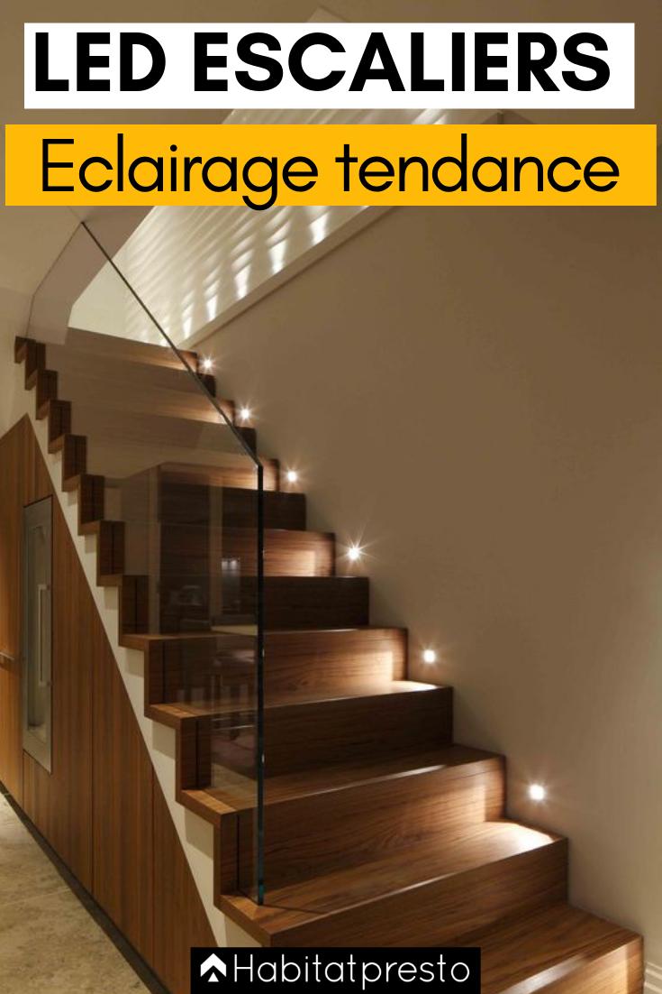 Eclairer Un Escalier Avec Des Led 5 Idees Faciles Et Tendance Led Escalier Eclairage Escalier Et Spot Escalier