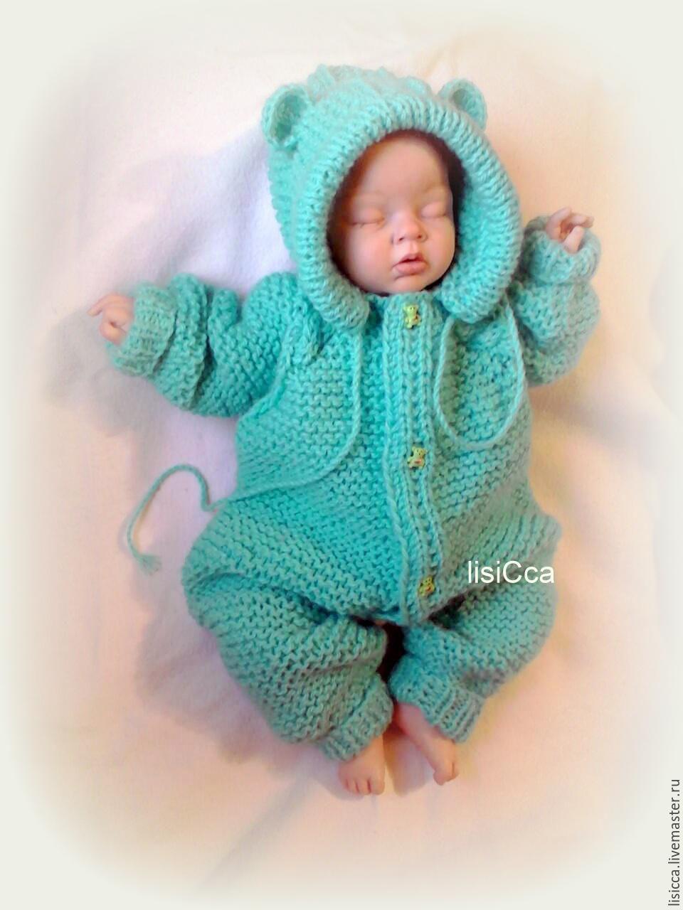 Купить Комбинезон Мятный медвежонок - мятный, комбинезон, комбинезон детский, комбинезон для девочки, комбинезон для малыша