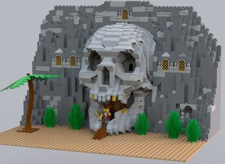 LEGO Ideas - Life-sized Human Skull with Movable Jaw