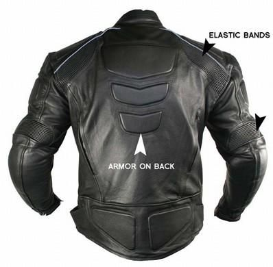 Men's Xelement Advanced Black Armored Padded Jacket Motorcycle URZRHB0W