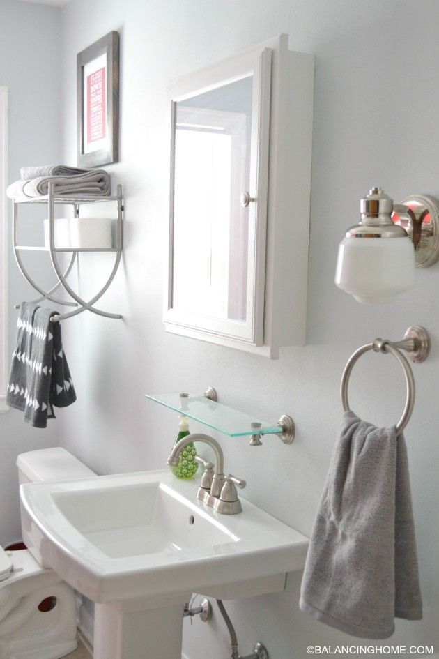 Bathroom Updates, Organization & Free Bathroom Rules Printable in lots of  colors.