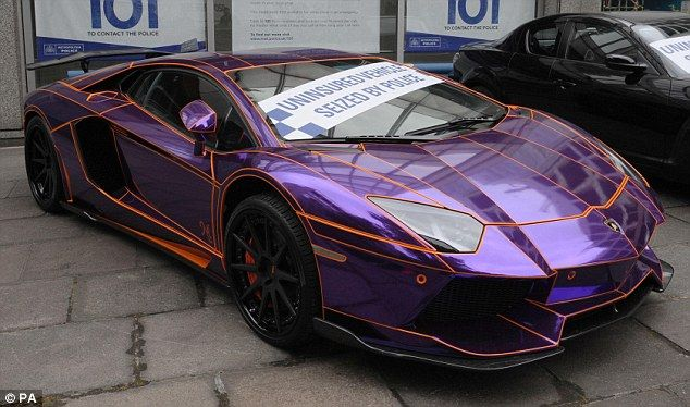 a lamborghini aventador which was seized on wilton place in knightsbridge by police for being