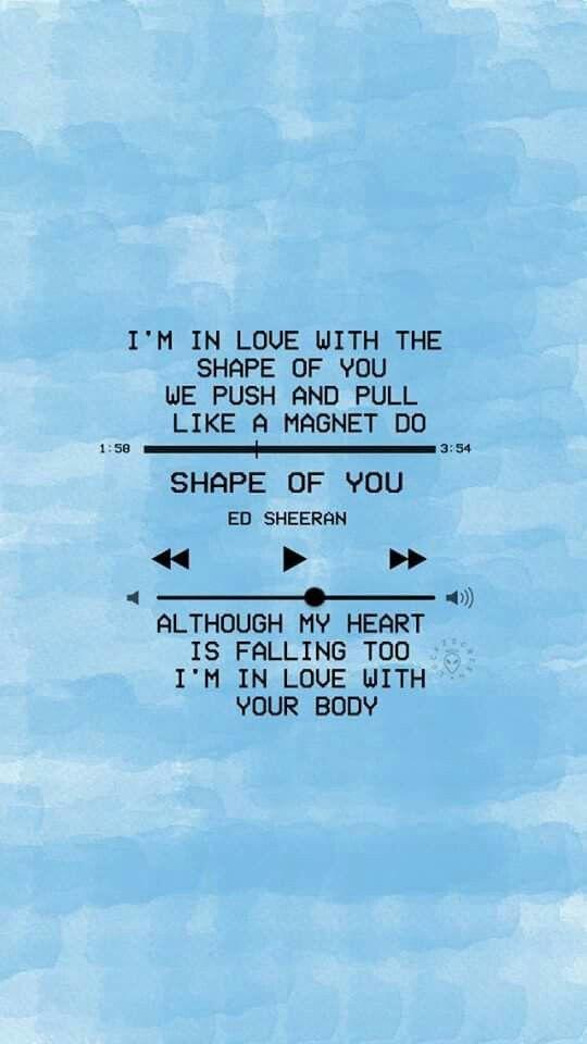 Day 4 Shape Of You Ed Sheeran Lyrics Pinterest Ed Sheeran