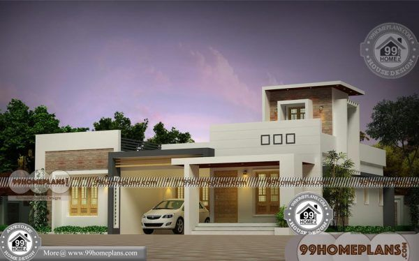 One story craftsman house plans with flat roof modern style home idea also rh pinterest