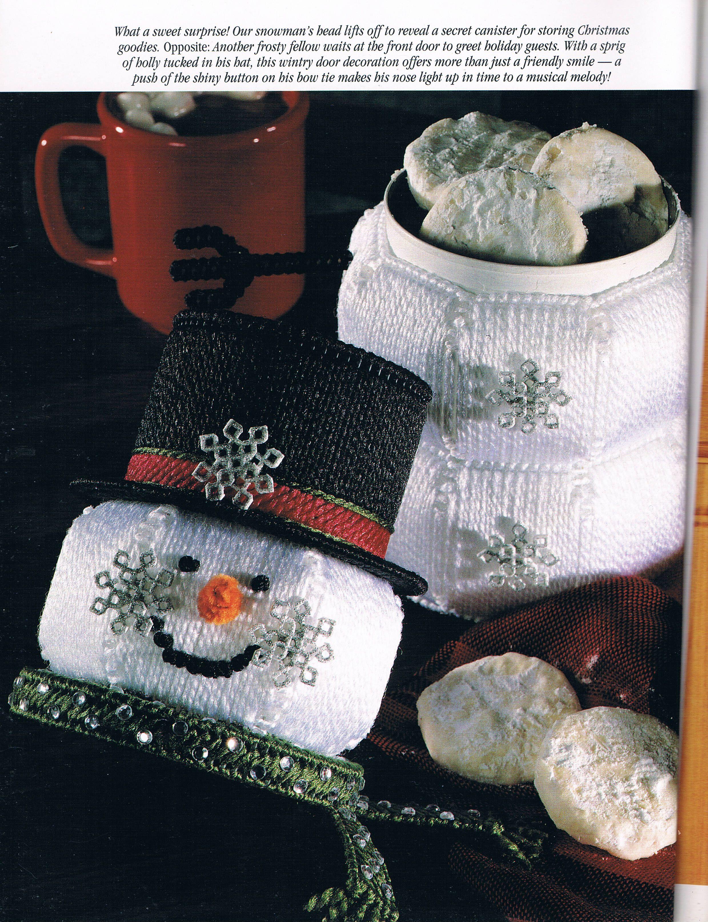 Snowman can cover 2 6 lienzos pinterest lona de - Lonas de plastico ...