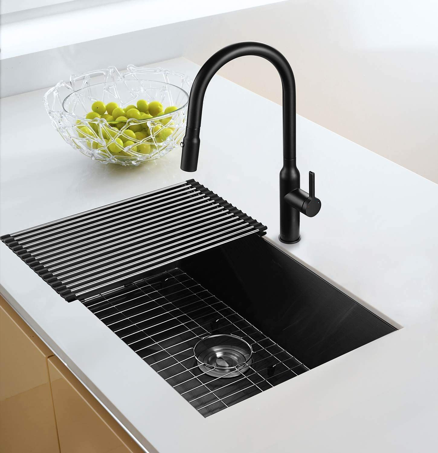Aguastella As3018mb Kitchen Sink Stainless Steel 30 Inch Undermount Single Bowl Black Stainless Steel Kitchen Sink Kitchen Cabinets Makeover Cool Kitchens