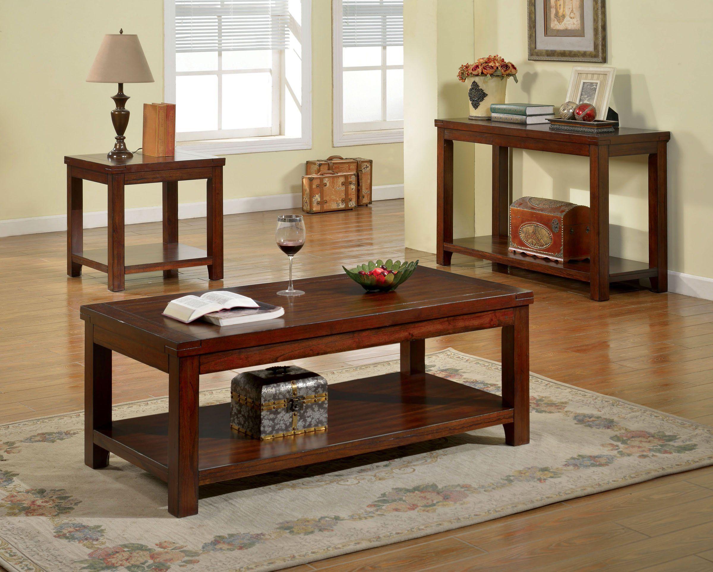 Furniture Of America Cm4107c Estell 3 Pieces Coffee Table Set 3