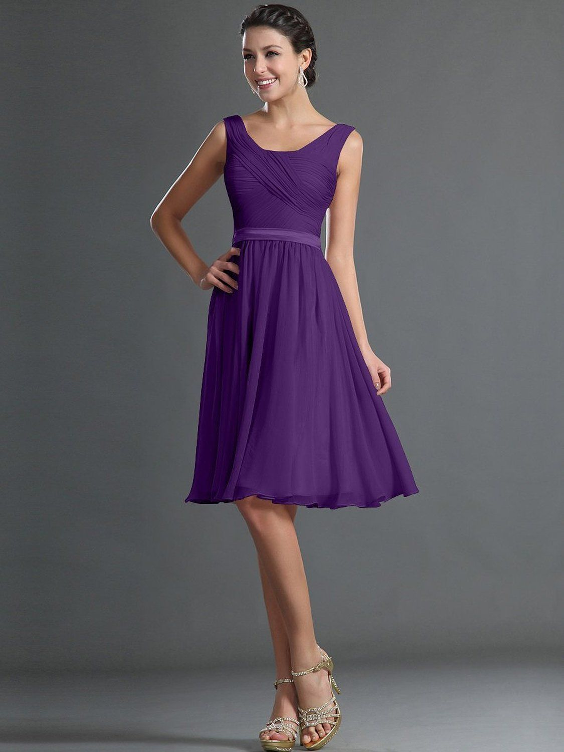 Remedios aline chiffon bridesmaid dresses short party gown for prom