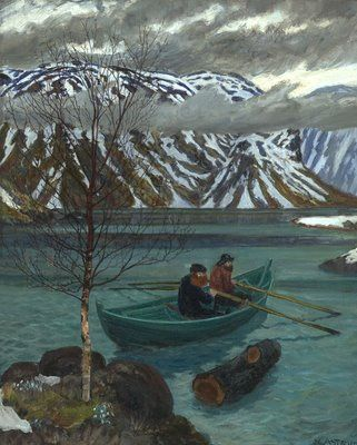 Nikolai Astrup Via A Polar Bear S Tale Scandinavian Paintings Landscape Paintings Landscape Artist