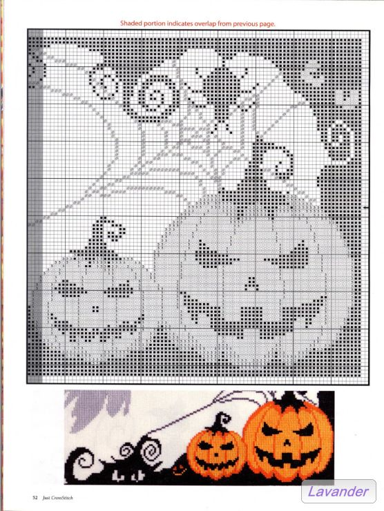 Jack O Lantern 4 Cross Stitch Pattern