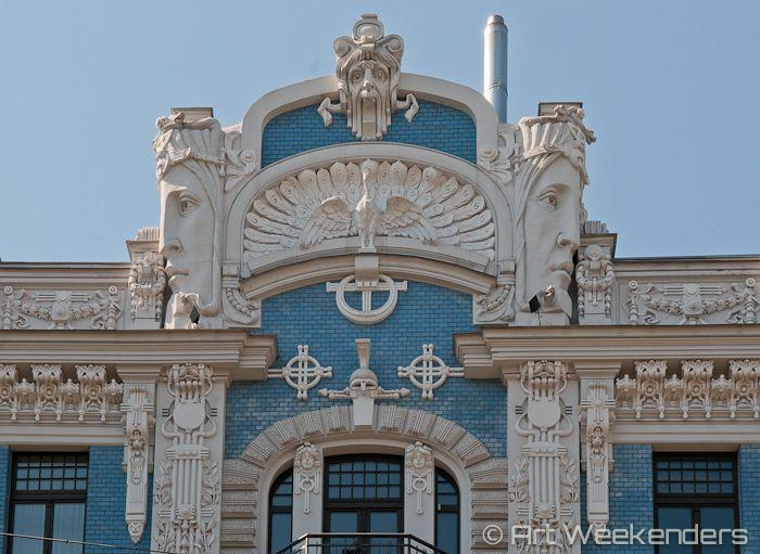 Where to find Art Nouveau in #Riga #Latvia http://www.artweekenders.com/art/art-nouveau-riga/ #artnouveau
