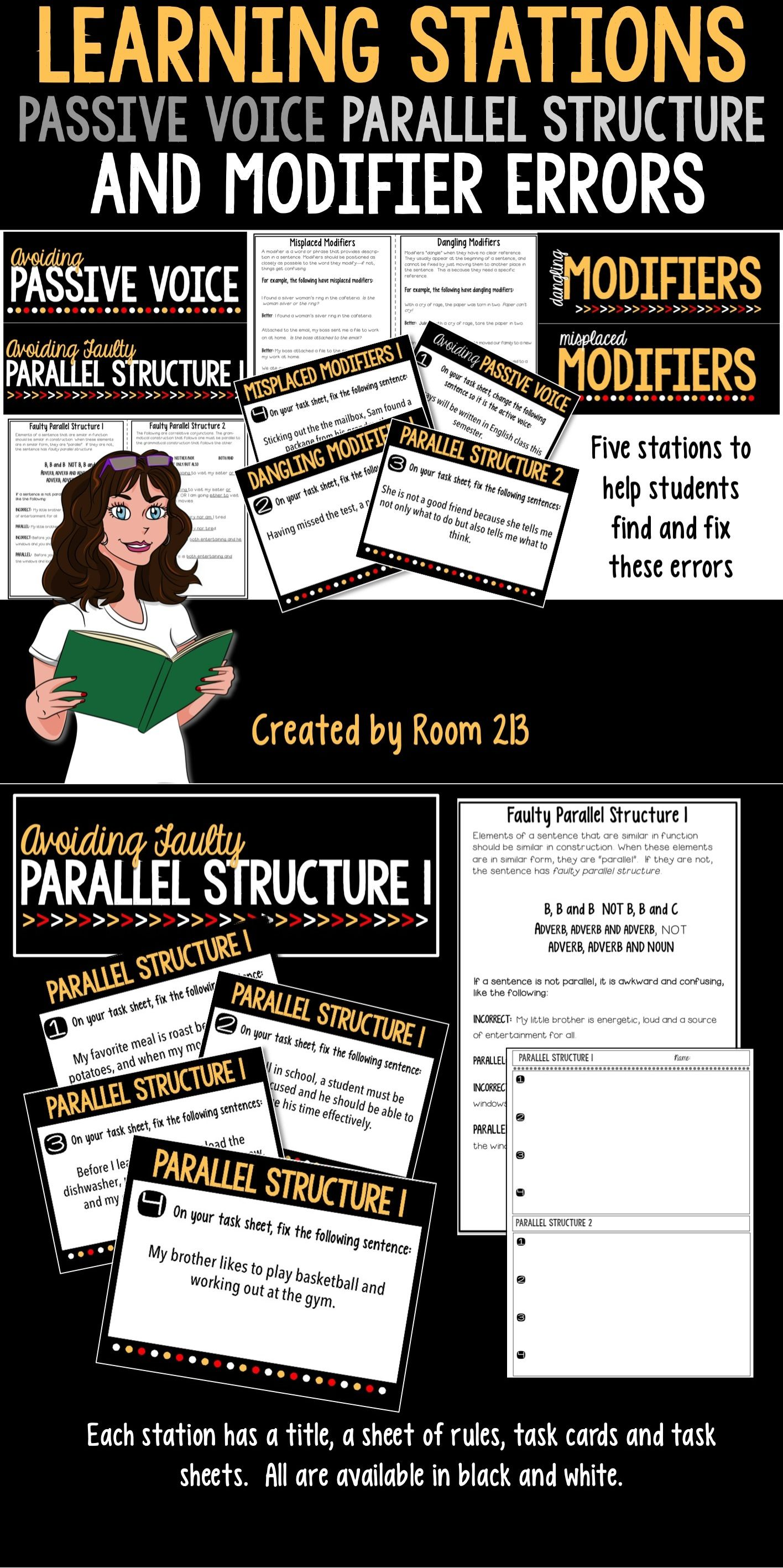 Learning Stations Passive Voice Faulty Parallel Structure Amp Modifier Errors