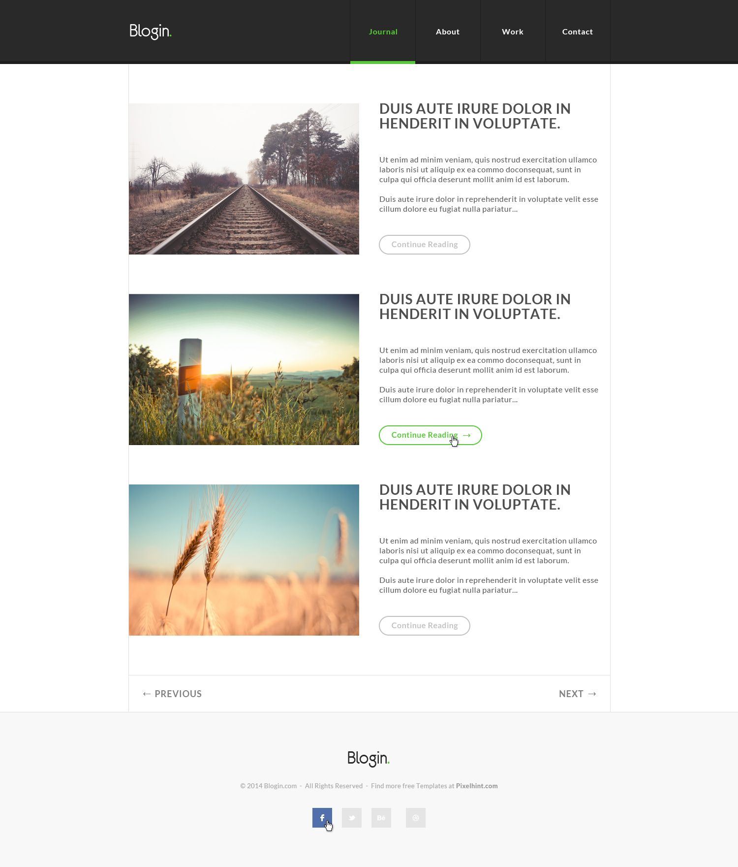 Download Clean, pixel perfect html5 css3 blog template | Freebies ...