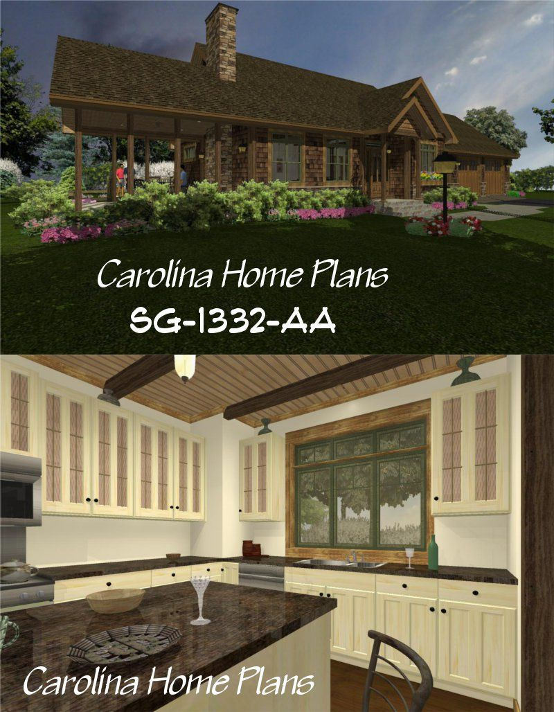 Small But Ious Downsizing House Plan Number Chp Sg 1332 Aa