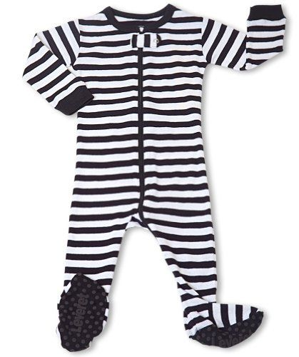 "Leveret Footed B ""Striped"" Pajama Sleeper 100% Cotton (Size 6M-5T) (6-12 Months, Black & White) Leveret,http://www.amazon.com/dp/B008GYXQIU/ref=cm_sw_r_pi_dp_JNNqrb1K93X8T2FB"