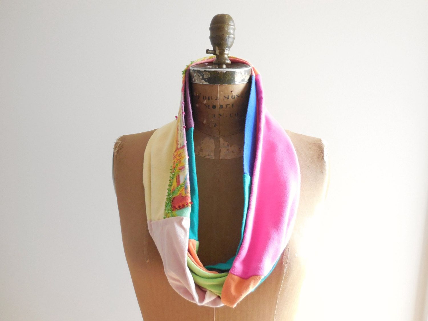 Infinity T Shirt Scarf / Pastel Colors / Yellow Orange by ohzie, $25.00