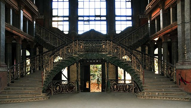 Prince Said Halim's Palace or (wrongly known as) Champollion House, Cairo, Egypt. This residence was designed by Antonio Lasciac in 1899. Later, it was converted to one of the best secondary schools for boys (Al-Nassiriyah) in the country.
