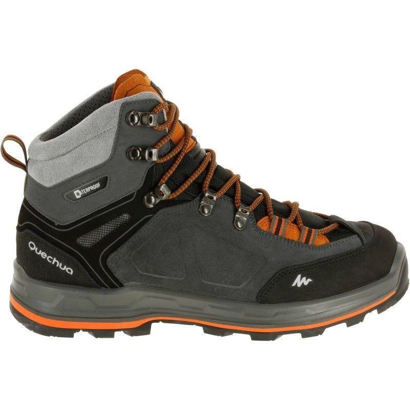 a55292d0089a7 35 - Hiking Men - Forclaz 500 High Men's Waterproof Walking Boots - Grey  QUECHUA - Boots