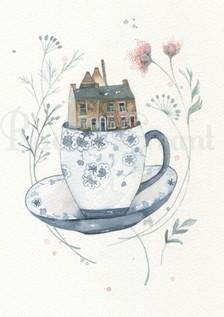 Home In A Teacup No.3 by Rachel Grant