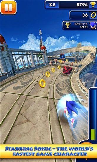 SEGA's Sonic Dash game arrives on Windows Phone and Windows