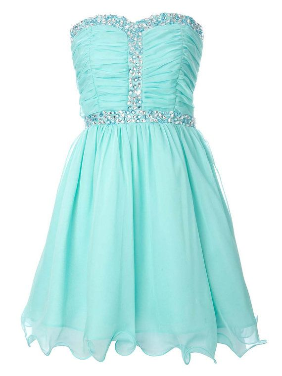 Be Cute For Our 11 And 12 Year Old And Its Sparkly Like The 4th Homecoming Dresses Aqua Dress Kids Dress
