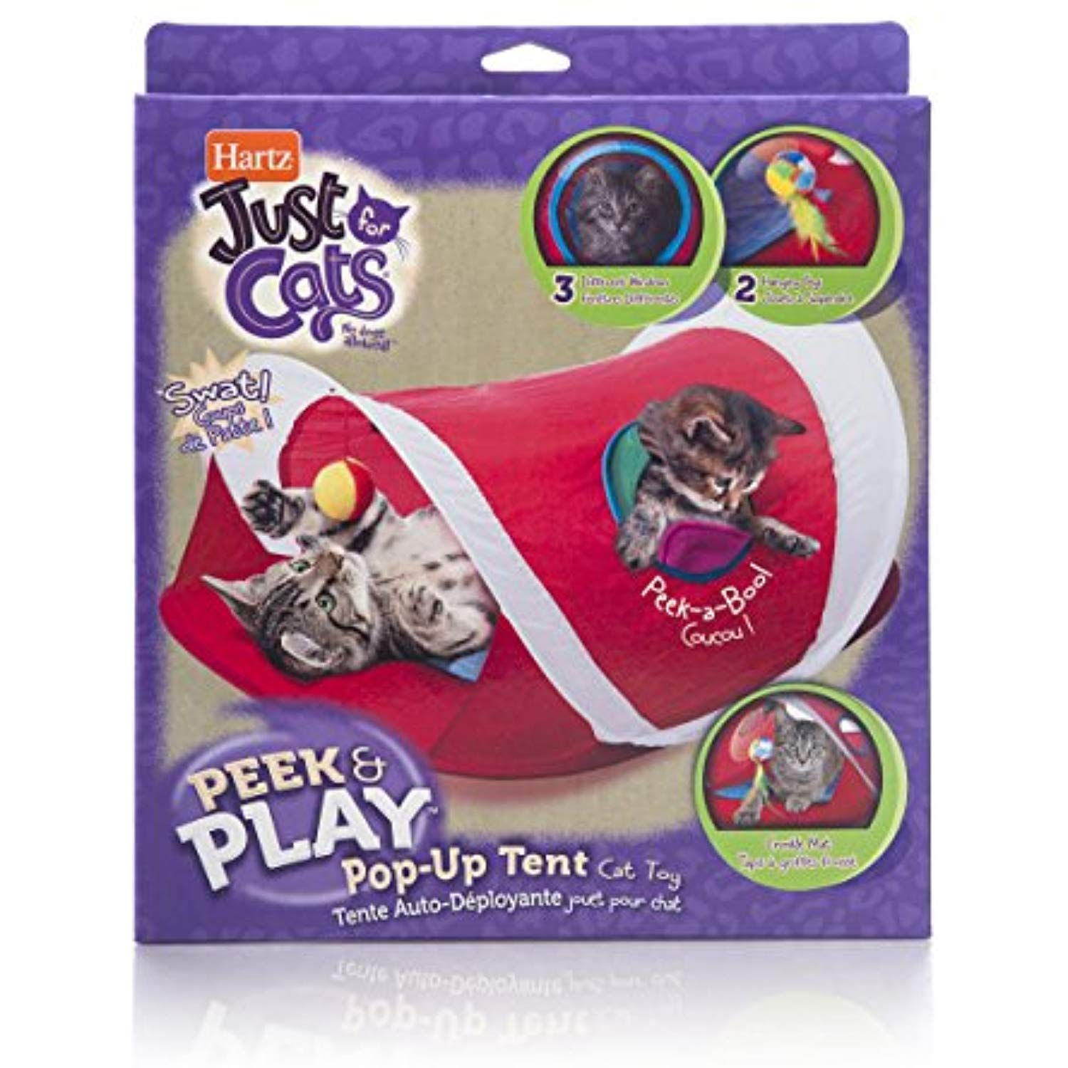Hartz Just For Cats Peek And Play Pop Up Tent Cat Toy Check This Awesome Product By Going To The Link At The Image Thi Cat Toys Cat Tent Benadryl For