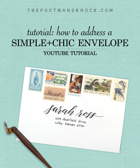 How to Address an Envelope Simple + Chic (YouTube