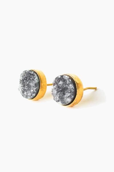 Druzy Quarts Studs - One of the many sparkling new arrivals! We could only get our hands on a few of these Leslie Francesca pieces, so snag yours before they disappear <3 www.mooreaseal.com