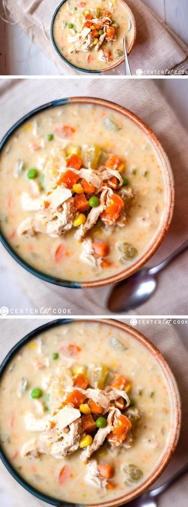 Slow Cooker Healthy Chicken Pot Pie Stew | Recipe ...