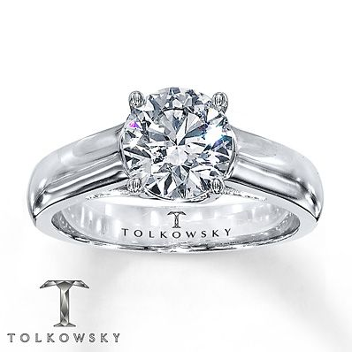 31691b49b THIS IS THE ONE! Tolkowsky Solitaire Ring 1 1/2 Carat Diamond 14K White Gold