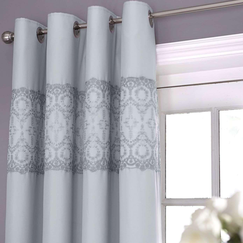 Claudia Grey Thermal Eyelet Curtains Dunelm Curtains Stylish Curtains Ready Made Eyelet Curtains