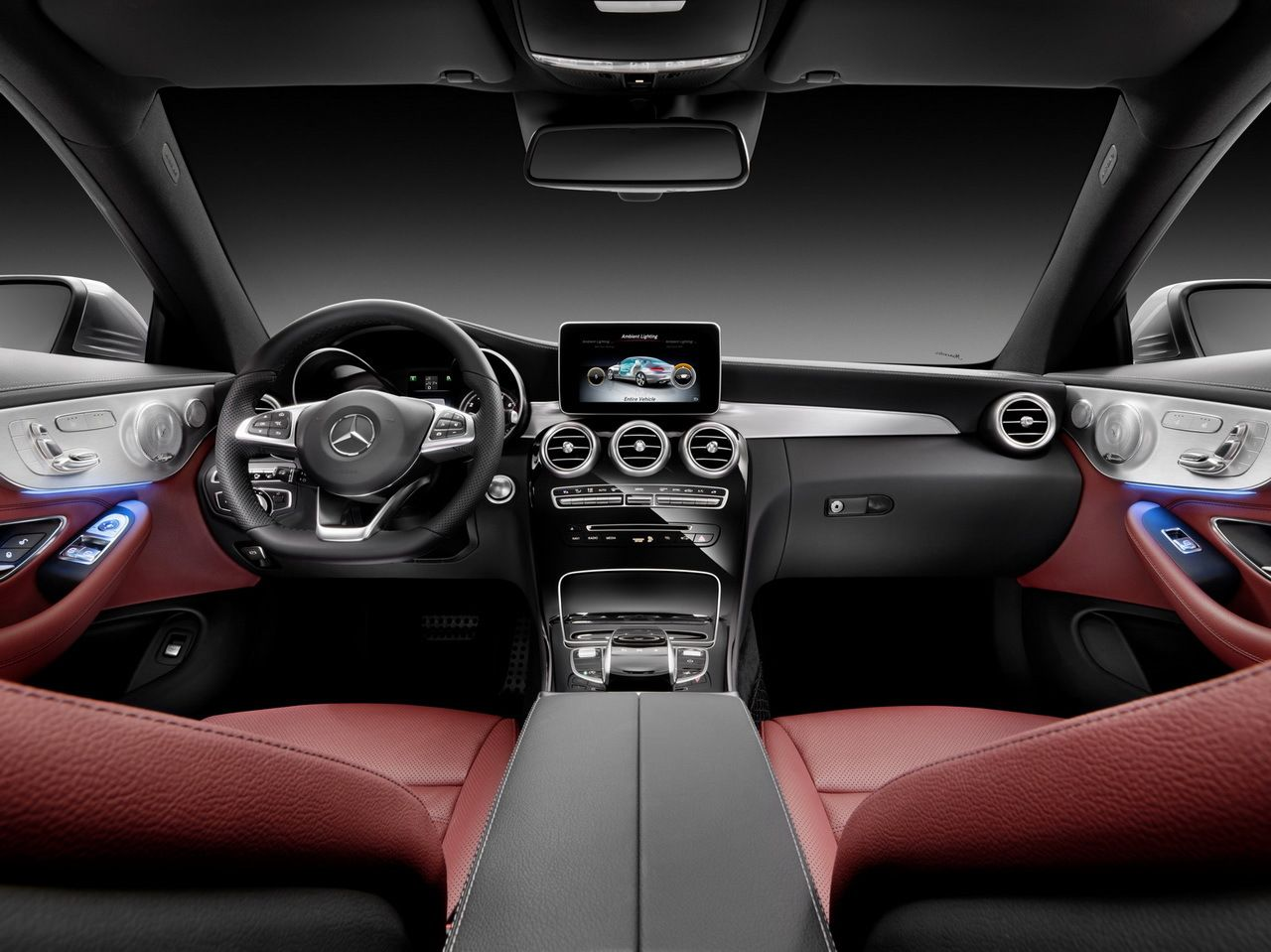 Intérieur cuir rouge Mercedes Classe C Coupé 2016   Cars/Trucks ...