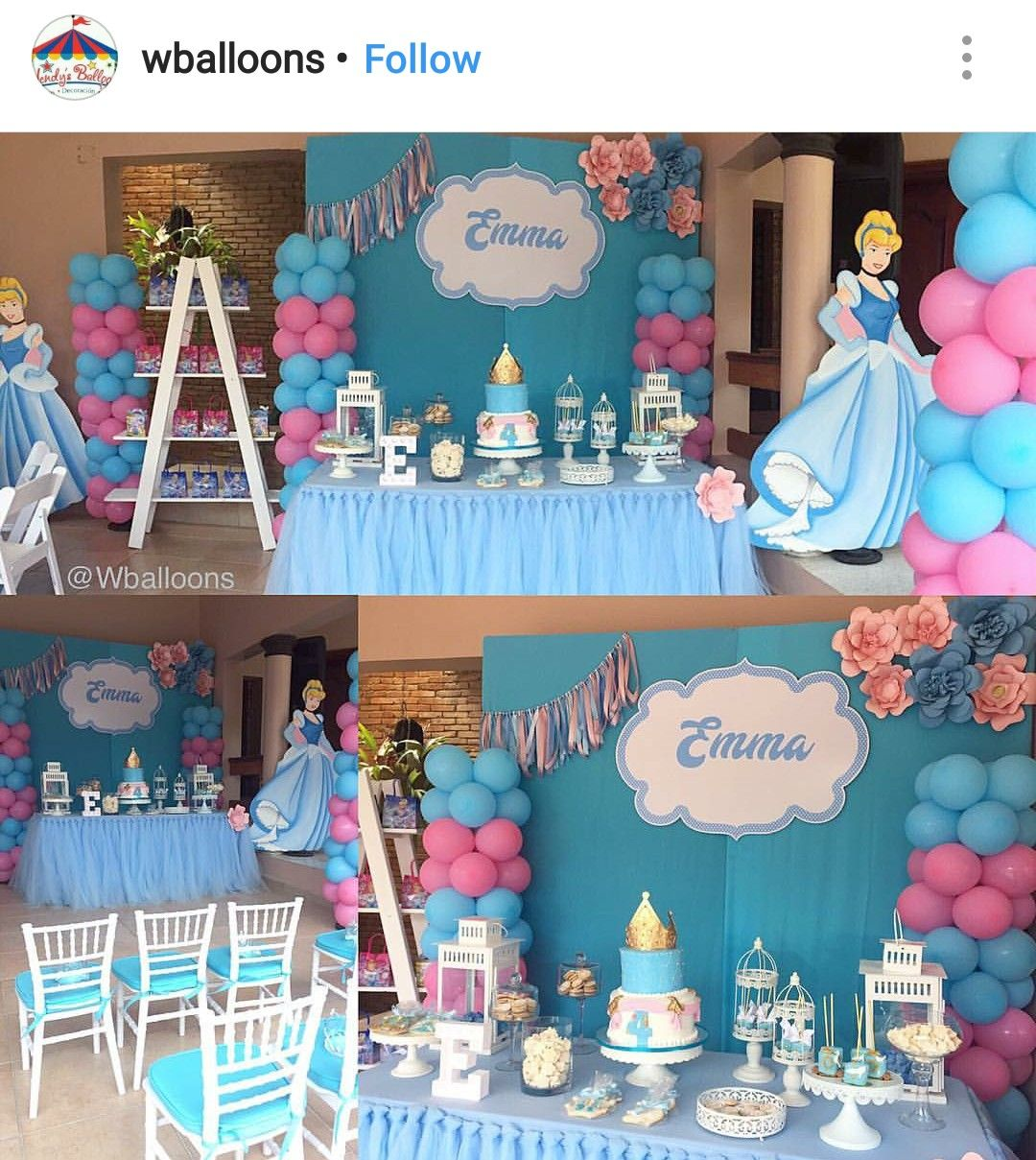 Cinderella Birthday Party Dessert Table And Decor Cinderella Birthday Party Theme Cinderella Birthday Party Cinderella Birthday Party Decorations