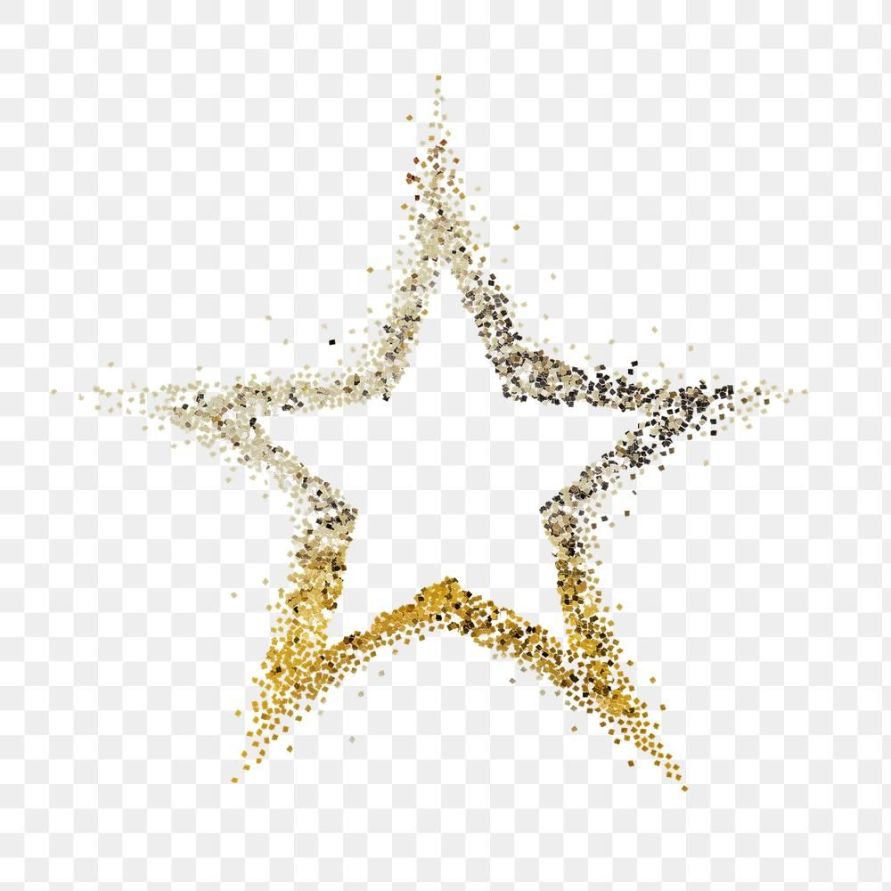 Shiny Dusty Gold Star Transparent Png Free Image By Rawpixel Com Ployploy