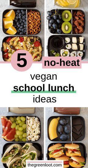 5 No-Heat Vegan School Lunch Ideas For College