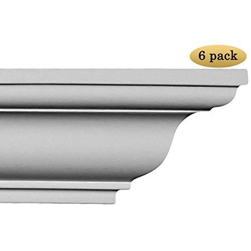 64 Ft Of 3 5 Quot Angelo Foam Crown Molding Room Kit W X2f Precut Corners On End Of Lengths Available In Easy Crown Molding Crown Molding Foam Crown Molding