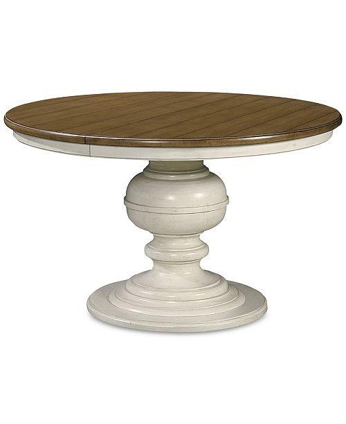 Sag Harbor Expandable Round Dining Pedestal Table Cotton