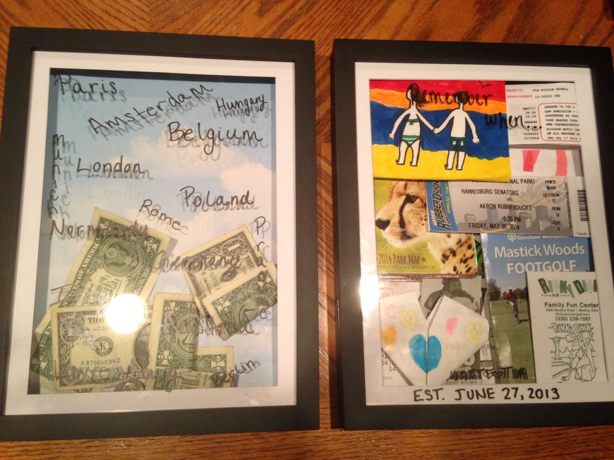 Shadow boxes!