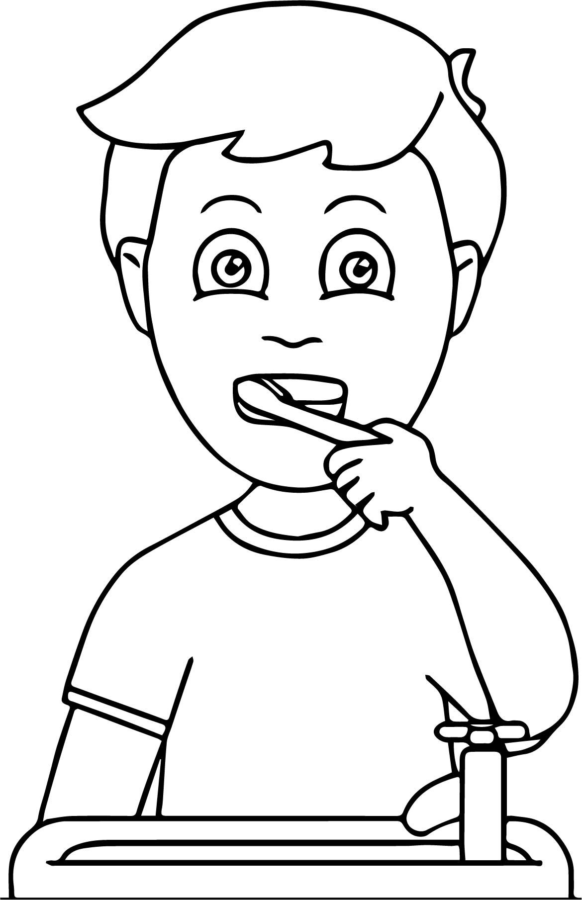 Nice Dental Kids How Doing Tooth Brush Coloring Page Dental Kids