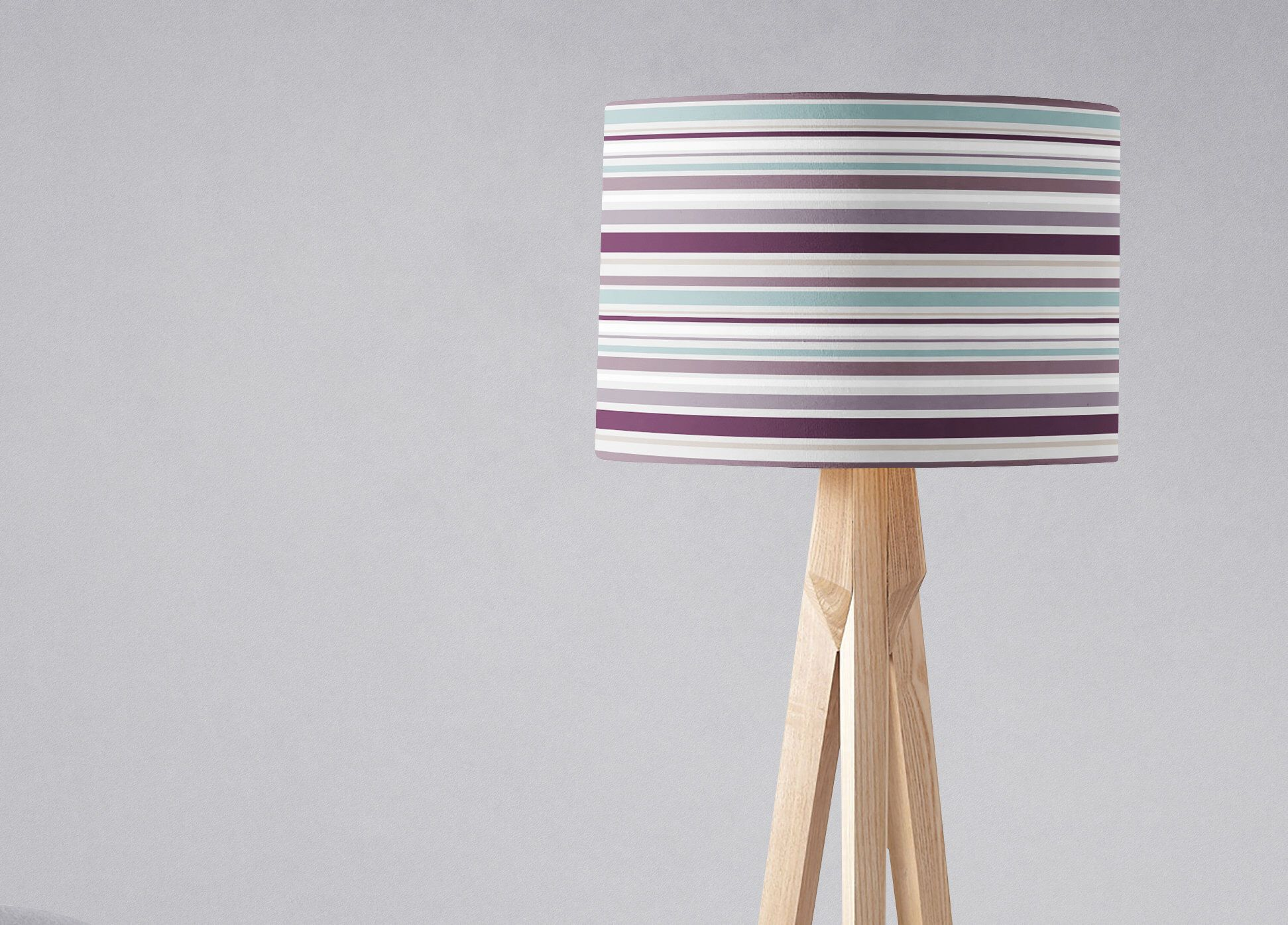 Purple lamp shade striped lampshade duck egg lamp shade plum home purple lamp shade striped lampshade duck egg lamp shade plum home decor aloadofball Gallery
