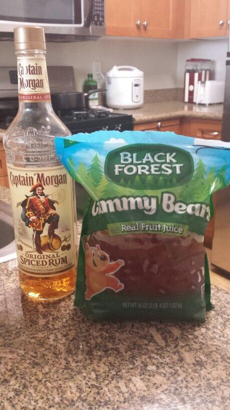 how to make rum gummy bears